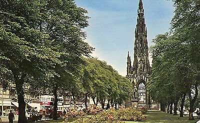 Scotland  Midlothian Edinburgh Princess street gardens & Scott munument  posted