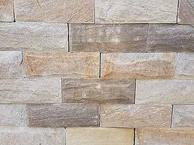140mm Pitched Face Sandstone Walling stone