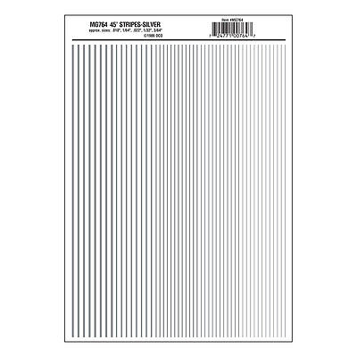 Stripes Silver Dry transfer Sheet – Woodland Scenics MG764 - free post F1
