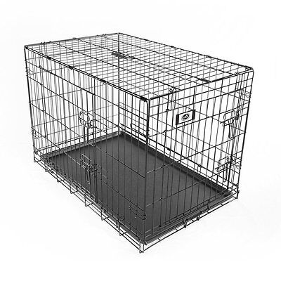 Deluxe 2 Door with Divider Steel Wire Collapsible Pet Crate PetChampion (NEW)