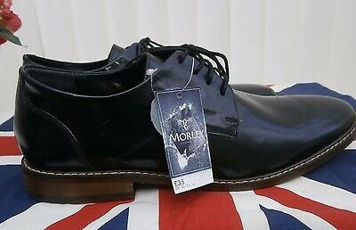 Morley Men`s Black Leather Shoes - Size 12 BNWT
