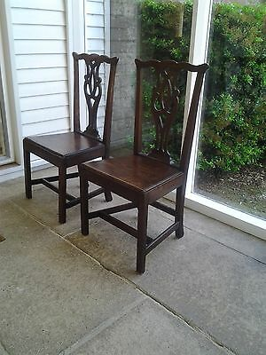 Pair Chippendale Hall Chairs