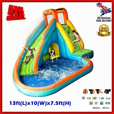 Inflatable Water Slide Commercial Bouncy Castle Pool Kids Fun Play Centre Blower