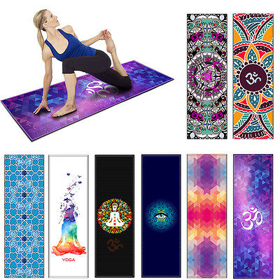 Yoga mat Rubber Exercise Floor Mat Fitness Pad Gym Cushion Non Slip Pilates Camp