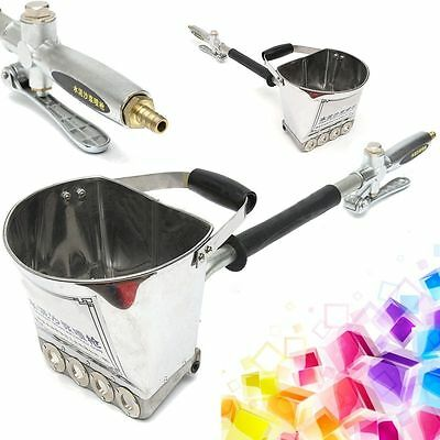 4 Jet Cement Mortar Sprayer Hopper Stucco Spray Gun Wall Painting Concrete Tool