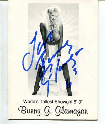 BUNNY G GLAMAZON  autograph HAND SIGNED SB1825