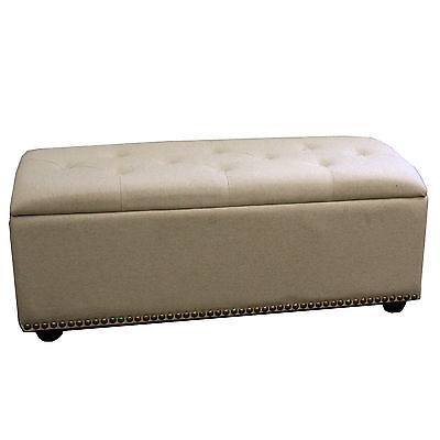 Upholstered Storage Bedroom Bench with Seating ORE Furniture FREE SHIPPING