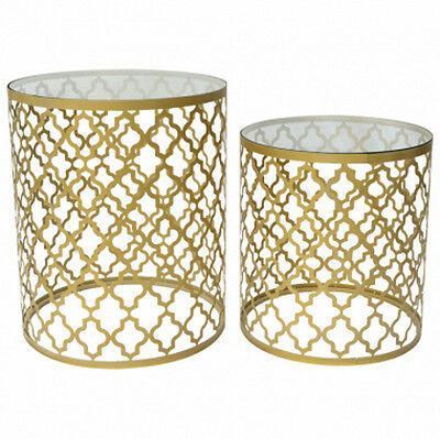 Side Table Set Of 2 Moroccan Coffee Table