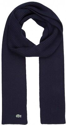 Lacoste Knitted Mens Scarf Navy // Free UK Delivery