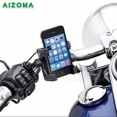 Motorcycle Handlebar Cell Phone Carrier Mount Set For Harley Touring Trike 09-up