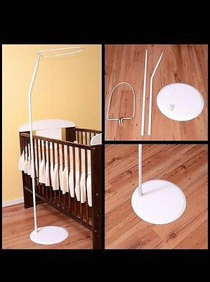 cot canopy white and stand