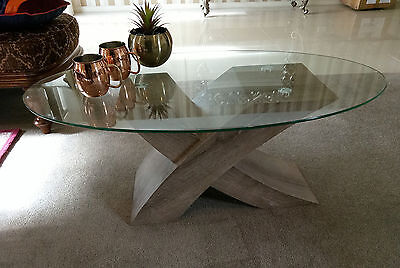Coffee Table Tempered Glass Top Living Room Furniture New