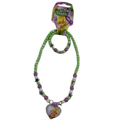 Disney Fairies Necklace & Bracelet Set