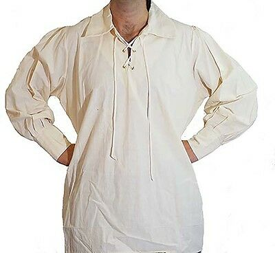 Medieval-LARP-SCA-Re-enactment-Pirate-Role Play-Cosplay MENS EYELET STYLE SHIRT