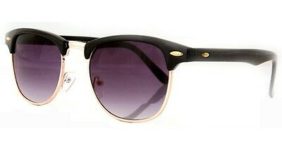 Sunglasses New Classic Retro 1980's Vintage Full UV400 Black Gold B