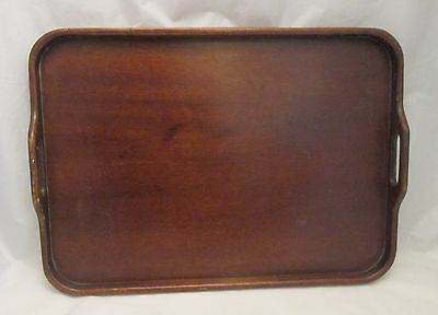 A Vintage Retro Wooden Tray with Handles - c1930 - Galleried Edge