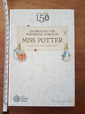 2016 Royal Mint Beatrix Potter 50p Coin Album - NEW - No Coins