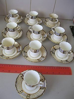 Hammersly & Co Vintage Coffee / Tea Set Of 10 Cups And Saucers