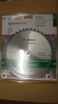 Bosch Saw Blade for Benchtop / Table Saws 254mm 40T for Softwood Hardwood Plywoo