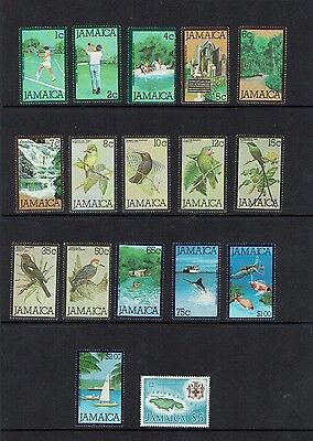 Jamaica: 1979 Definitive set, birds, fish sports, MNH