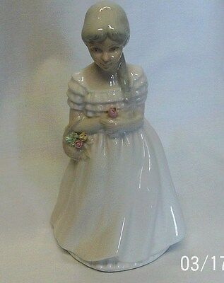 Porceval Lady Figurine Hand Painted Made In Valencia