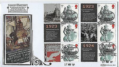 "GB Stamps 2007 ""Wembley"" Smilers Limited Edition Benham First Day Cover"