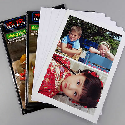 20 Sheets A4 Glossy Photo Papers 180gsm Waterproof Printing for Inkjet Printer