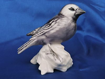 Vintage Goebel West Germany Grey Bird Figurine on a Branch