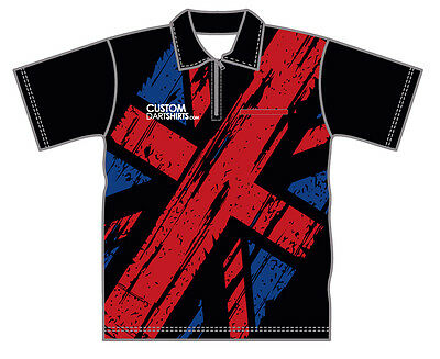 Black Union Jack Dart Shirt