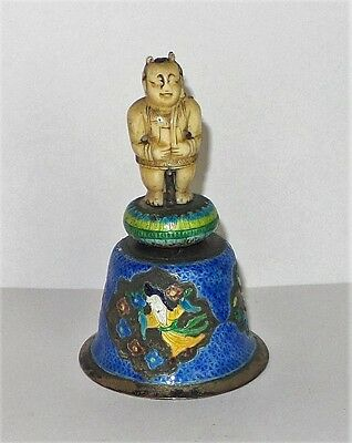 Antique Oriental enamel Bell