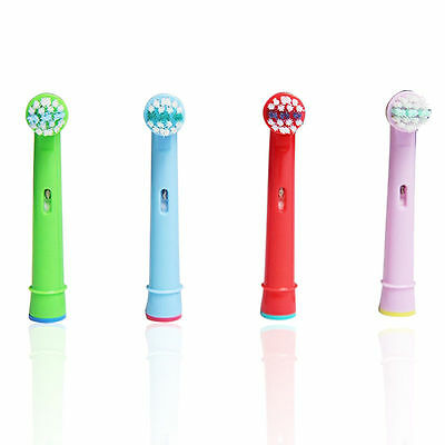 4X Generic Braun Oral-B Stages Power Kids Electric Toothbrush Heads AU Seller