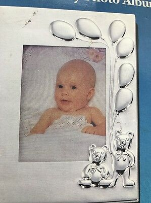 Silver Bears Silver Plated Baby Photo Album