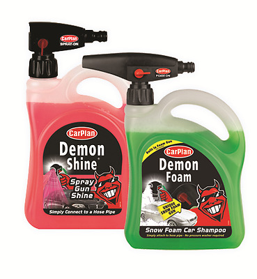 CarPlan Demon Shine/Foam Hand Gun Car Shampoo & Polish 2 Litre Bumper Pack