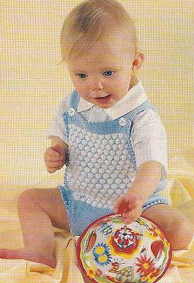 Baby's Tuck Stitch Romper Suit Pattern For Machine Knitting