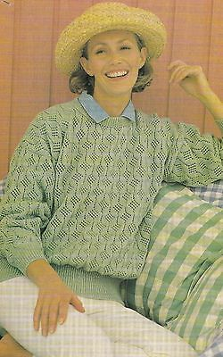 Lacy Sweater Pattern For Machine Knitting