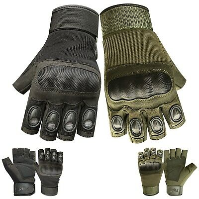 Men half finger tactical outdoor sports fingerless cycling motorbike gloves 9016