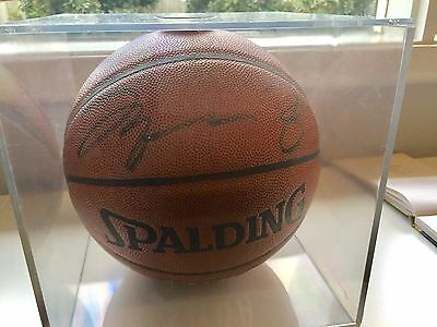 Signed Michael Jordan Basketball With Certificate Of Authenticity + Display Case
