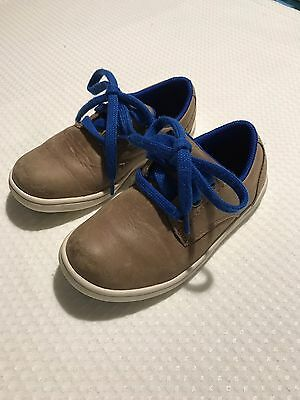 Clarks Toddler Boys Leather Shoes Size 8G