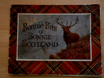 Antique prints book of Scotland dated 2nd Sep 1947