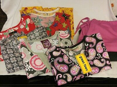 Lot Scrubs size M 8 pieces. 6 tops and 2 pants, some new.