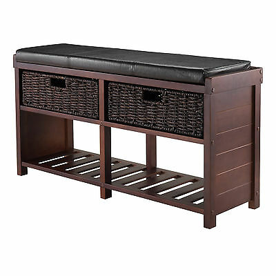 Bliven Cushion Storage Entryway Bench Charlton Home FREE SHIPPING (BRAND NEW)