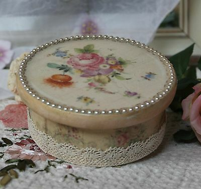"~ Victorian ~ Wooden~Vintage~Shabby~Chic Decor~JEWELRY BOX ~ ""Lovely Roses..."" ~"