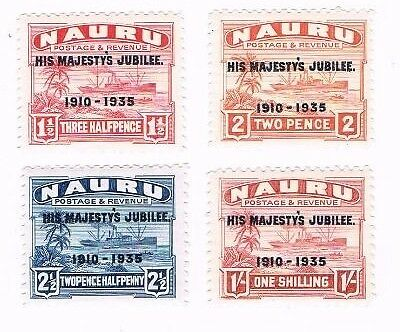 Nauru 1935 Silver Jubilee mounted mint set