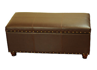 Faux Leather Storage Bedroom Bench HomePop FREE SHIPPING (BRAND NEW)