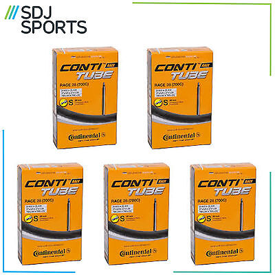 5 x CONTINENTAL RACE 28 700c INNER TUBES 80mm PRESTA VALVE FOR ROAD RACING R28