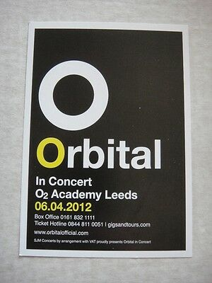 Orbital - Small Gig Flyer - Leeds 2012