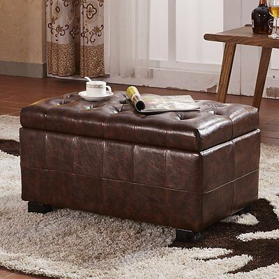 Faux Leather Storage Bedroom Bench NOYA USA FREE SHIPPING (BRAND NEW)