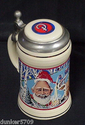 Stevens Point Brewery Holiday Collection Lidded Beer Stein Wisconsin 1991 #328