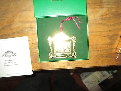 Christmas Ornament The White House Franklin Pierce 1997 Usa W/ Box And Papers