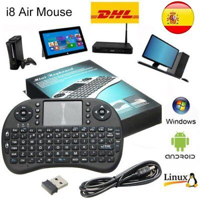 2.4GHz Mini Keyboard Teclado Inalámbrico Air Mouse Touchpad para Android TV YT